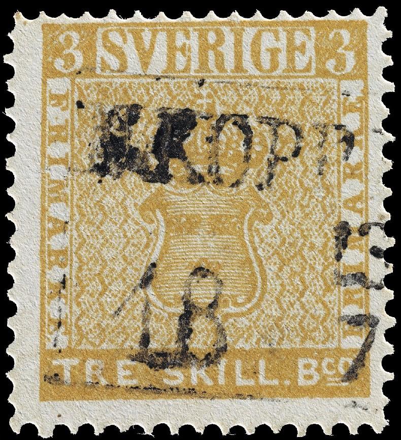 """Treskilling Yellow"" stamp"