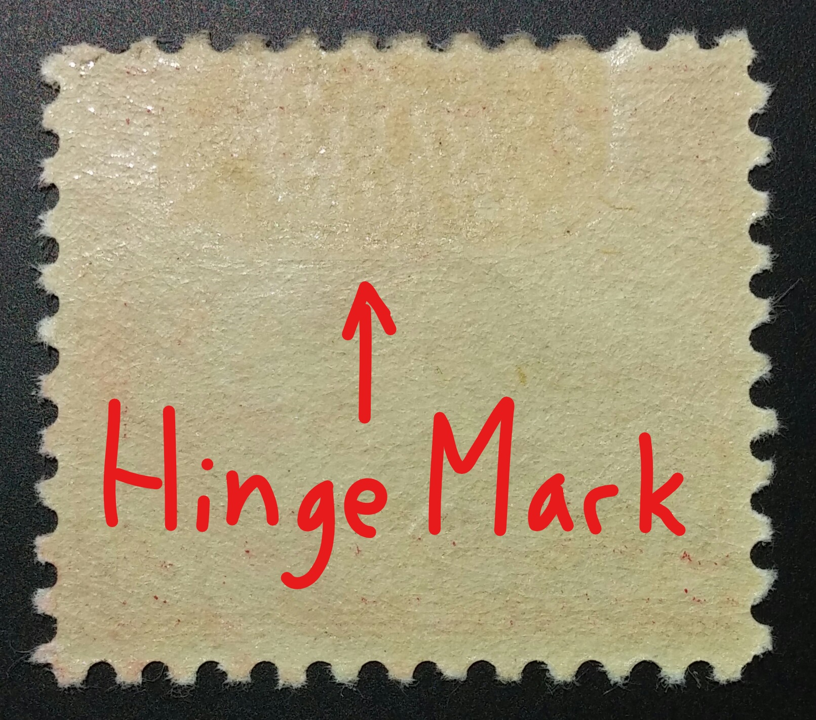 Previously hinged stamp